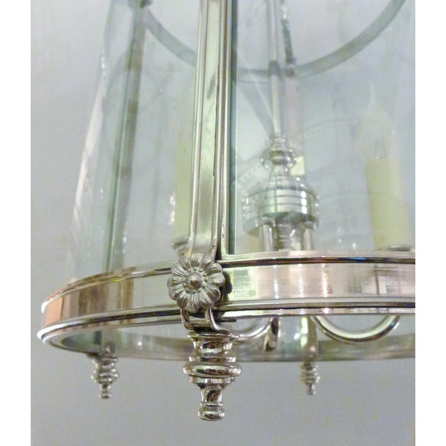 Traditional Transitional Style Nickel Lantern For Sale - Image 3 of 5