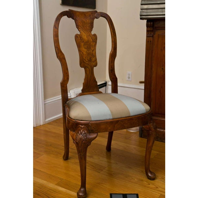 Antique Queen Anne Style Side Chair - Image 2 of 9