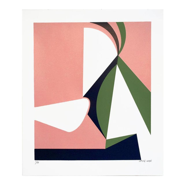 """Abstraction #2"" Silkscreen on Paper - Image 1 of 3"