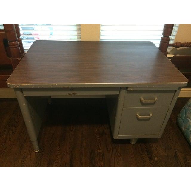 Vintage Blue McDowell & Craig Tanker Desk - Image 4 of 6