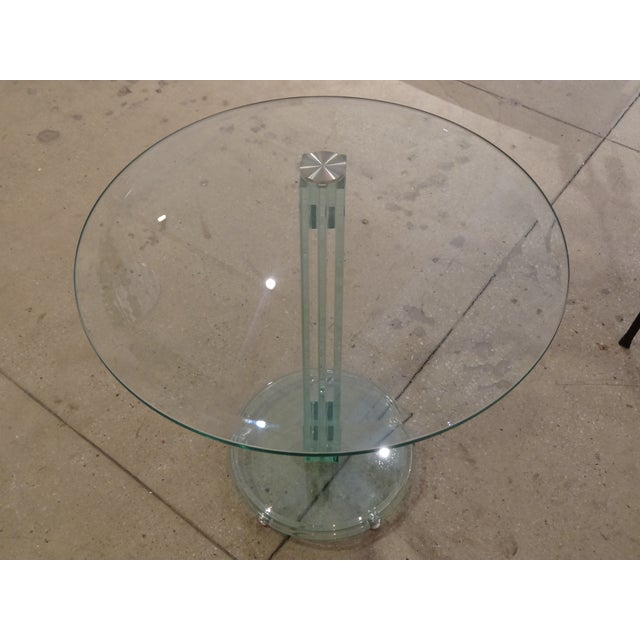 Fontana Arte Style Glass Tables - A Pair - Image 5 of 8