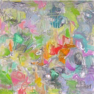 """Abstract Oil Painting by Trixie Pitts """"April Showers"""""""