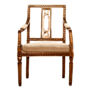 Gustavian Rural Fruitwood Armchair For Sale
