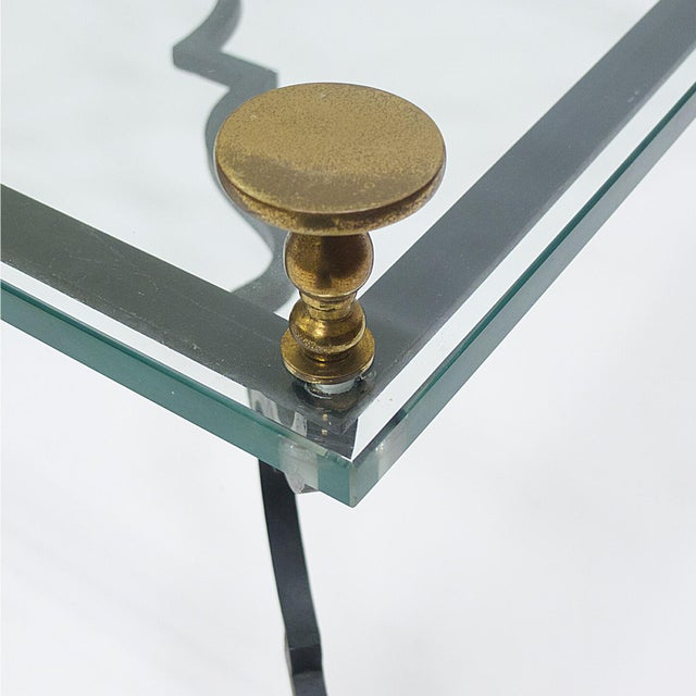 Heavy French Decorative Coffee Table Attributed to Gilbert Poillerat For Sale In New York - Image 6 of 6