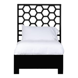 Honeycomb Bed Twin Extra Long - Black For Sale