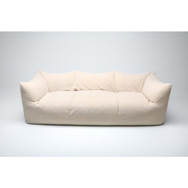 1970s Mario Bellini 'Le Bambole' Three-Seat Couch in Alcantara For Sale - Image 5 of 10