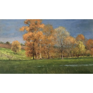 "Thomas McNickle ""Sunlight Against the Storm"" Contemporary Traditional Landscape Oil Painting For Sale"