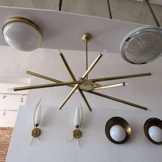 Gallery L7 Vl-6 Brass Chandelier For Sale In Los Angeles - Image 6 of 11