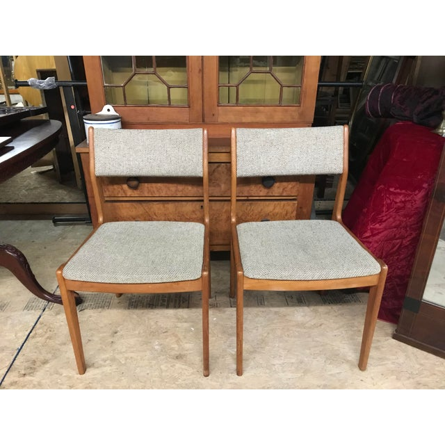 Erik Buch Vintage Mid Century Danish Modern Oak Chairs- A Pair For Sale - Image 4 of 4