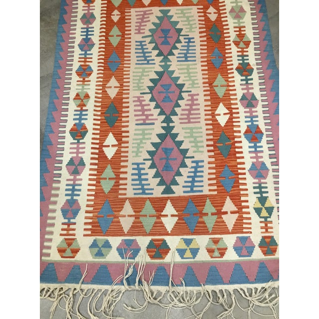 Contemporary Turkish Kilim Rug - 4′ × 6′2″ For Sale - Image 9 of 11