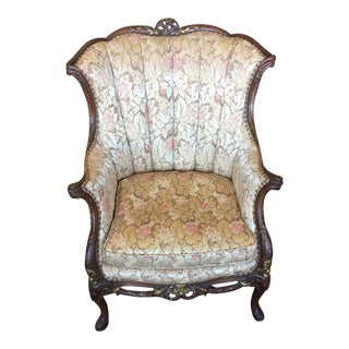 Mid 18th Century Antique Carved and Gilded Louis XV Chair For Sale