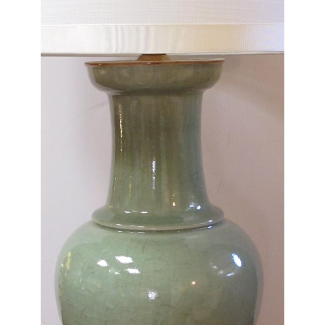 World Class A Large Scaled Pair Of Antique Chinese Celadon Glazed