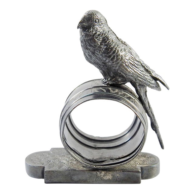 Figural Parakeet Napkin Ring - Image 1 of 7