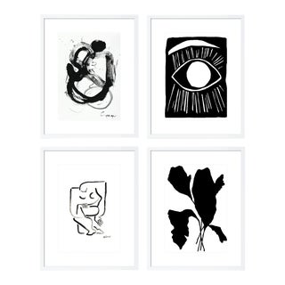 Minimalist Gallery Wall, Set of 4 For Sale