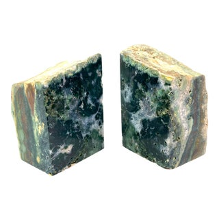 Mid-Century Modern Gemstone Raw Edge Bookends - Pair of 2 For Sale