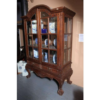 Vintage Large Javanese Hutch With Double Glass Doors and Sides Preview
