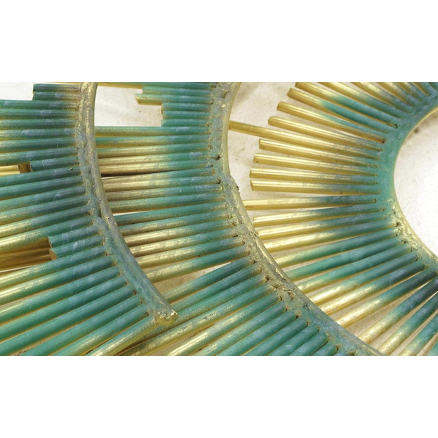 Mid-Century Modern Curtis Jere Wall Sculpture, Brass and Applied Patina For Sale - Image 3 of 5