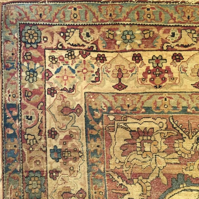 """19th Century Kermanshah Rug - 51"""" x 86"""" For Sale In Chicago - Image 6 of 7"""