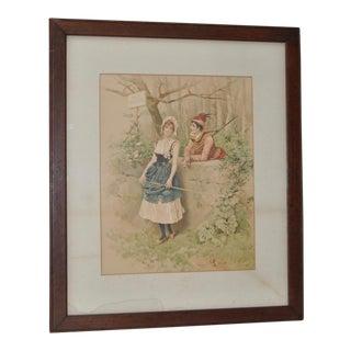 19th C. Antique Romance Print