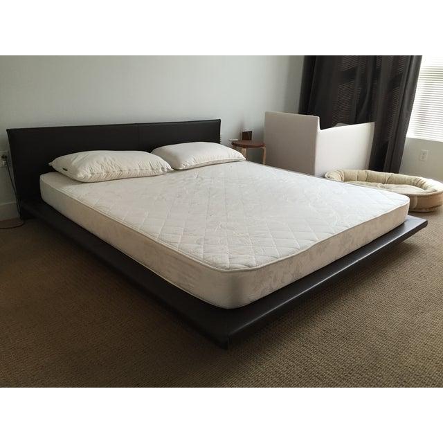 King Size Leather Platform Bed - Image 6 of 9