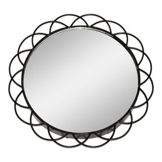 1970s Round Wall Mirror, Denmark For Sale