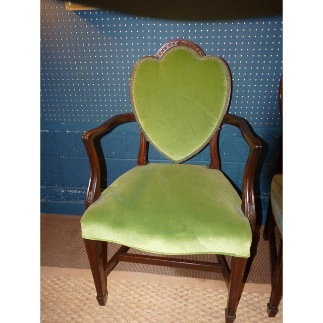 Mahogany Heart Shieldback Chairs - Set of 12 - Image 3 of 9