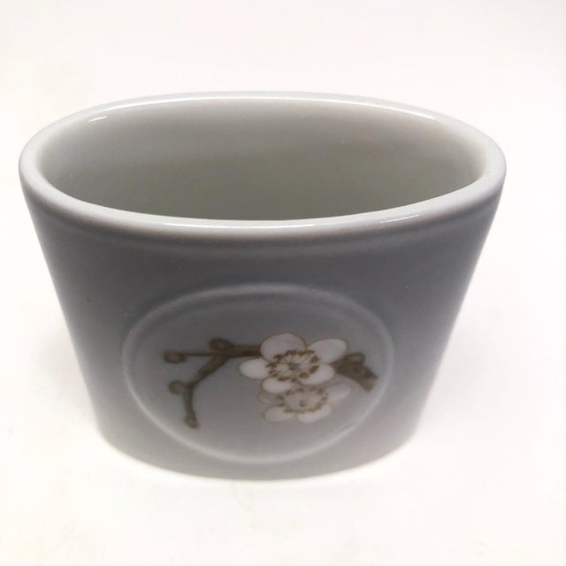 Gray Bing & Grondahl Denmark Porcelain Ashtray and Cigarette Holder With Blossom on Branch - a Pair For Sale - Image 8 of 13