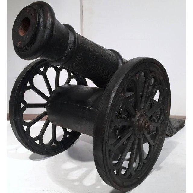 Black 18th Century French Iron Canons - a Pair For Sale - Image 8 of 8