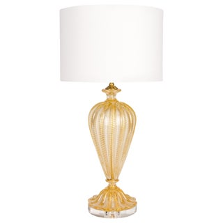 Barovier Murano Gold Glass Lamp For Sale