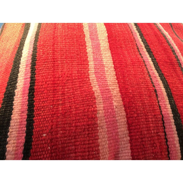 Red Moroccan Kilim Floor Pillow #2 For Sale - Image 5 of 5