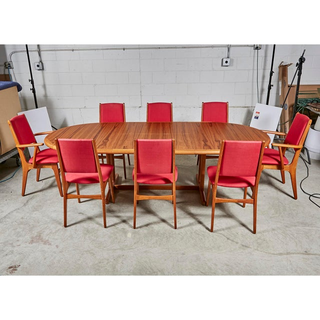 1970s Teak Dining Table & Chairs For Sale - Image 13 of 13