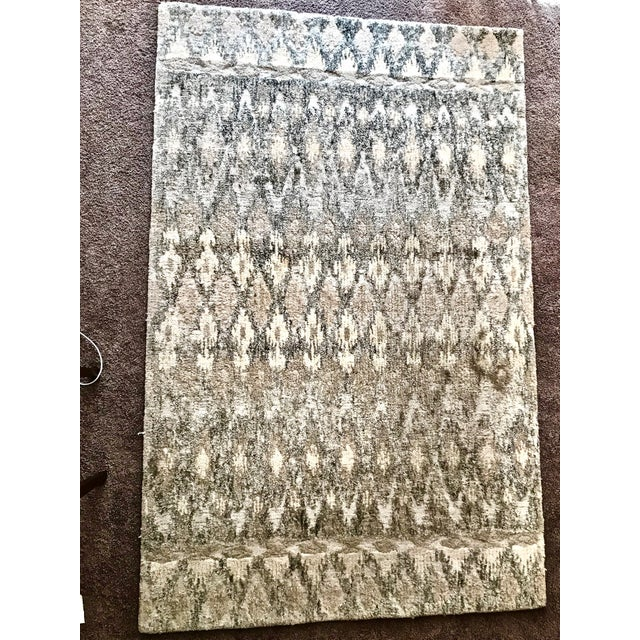 West Elm Handcrafted Ikat Wool For Sale - Image 10 of 11