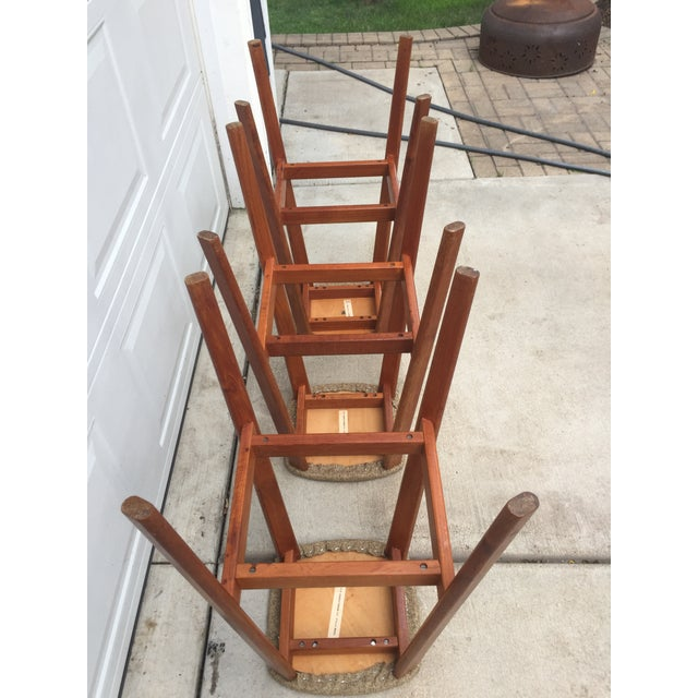 Tan Tarm Stole Og Mobelfabrik of Denmark Bar Stools - Set of 3 For Sale - Image 8 of 12