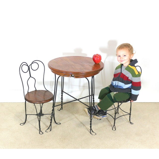 1940s Ice Cream Parlor Childs Dining Set - Image 3 of 6
