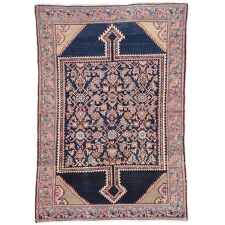 Antique Persian Malayer Rug With Rustic Romantic Georgian Style - 4′5″ × 6′4″ For Sale