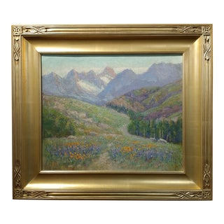 Frederick Carl Smith California Wild Flowers Landscape Oil Panting, Circa 1930s