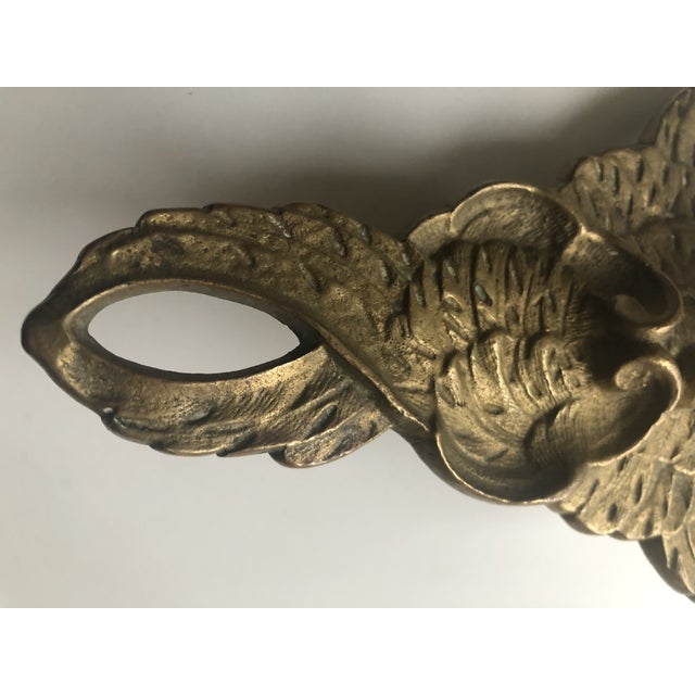 Early 20th Century Vintage Solid Brass Cherub Angel Doorstop For Sale - Image 5 of 8