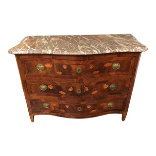 Louis XVI Period Marquetry 3-Drawer Chest With Original Pulls For Sale