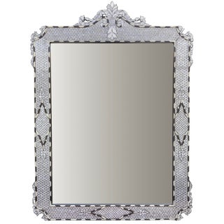 Contemporary Moorish Style Mother of Pearl Inlay Mirror For Sale