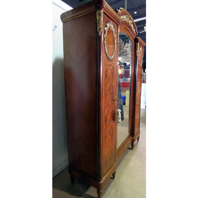 Regency Style Inlaid Armoire For Sale - Image 9 of 13