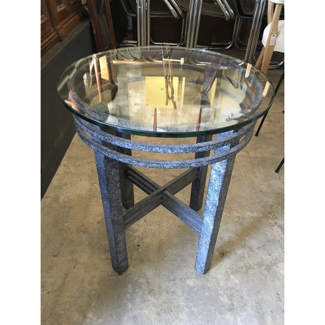 1980s Post Modern Sculptural Side Table For Sale - Image 4 of 11