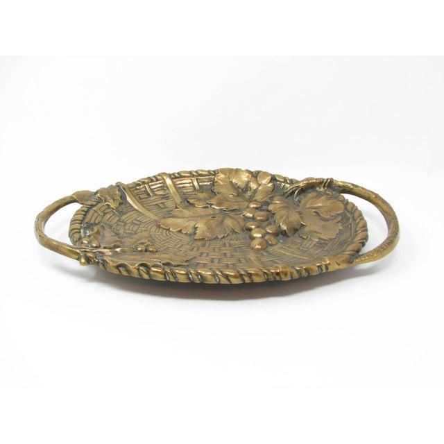 Antique Jan Van Neste Art Nouveau Bronze Decorative Tray With Grape Leaves For Sale - Image 13 of 13