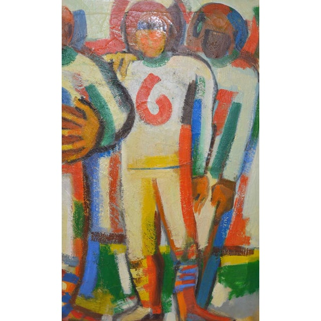 "Monumental Mid Modern ""Football"" Painting by J. Beall c.1960 For Sale - Image 9 of 10"