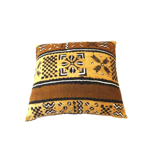 African Mud Cloth Pillow - Image 7 of 8
