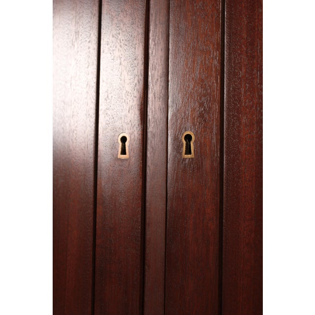 1950s Scandinavian Modernist Mahogany Armoire Cabinet For Sale - Image 5 of 6