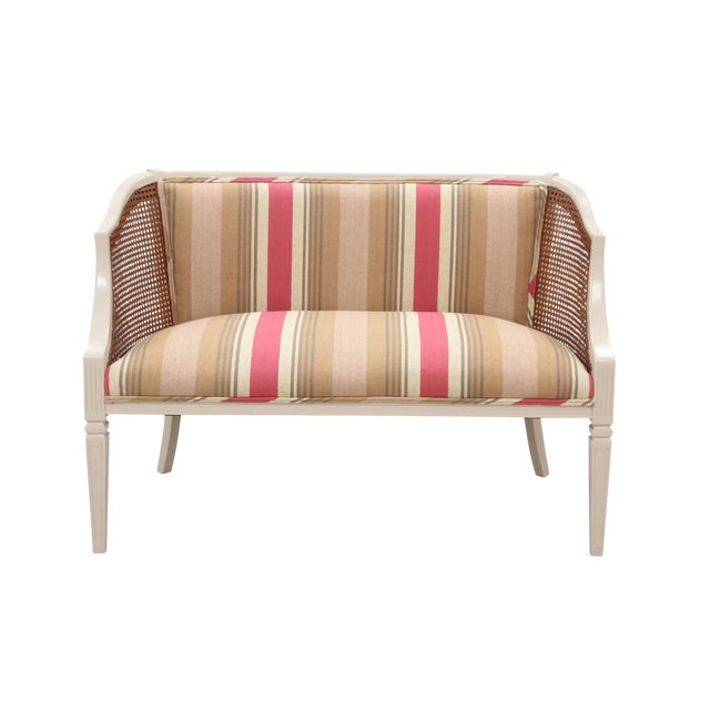 Neoclassical Style Caned Settee For Sale