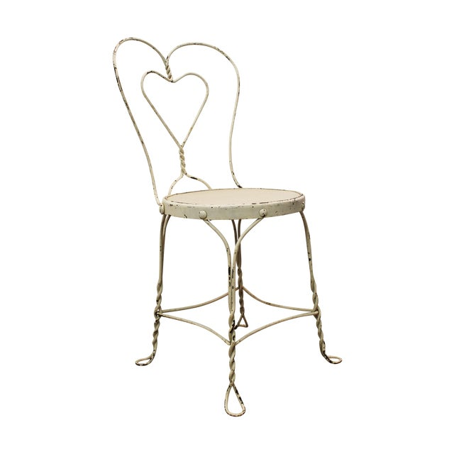Vintage Ice Cream Heart-Back Wire Side Chair - Image 1 of 11