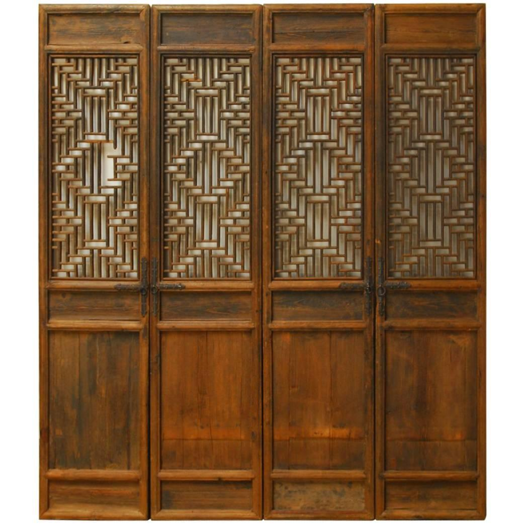 Chinese Lattice Panel Doors - Set of 4  sc 1 st  Chairish & Chinese Lattice Panel Doors - Set of 4 | Chairish
