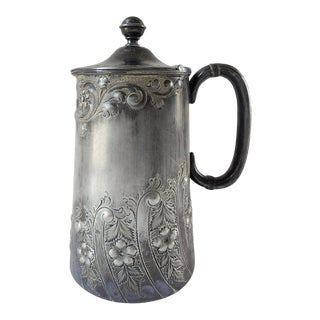 Antique English Sheffield Silverplate Lidded Jug For Sale