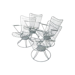 Mid-Century Swivel Patio Chairs - Set of 4 For Sale